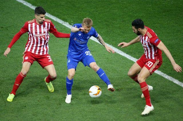 Динамо переиграло Олимпиакос и вышло в 1/8 Лиги Европы